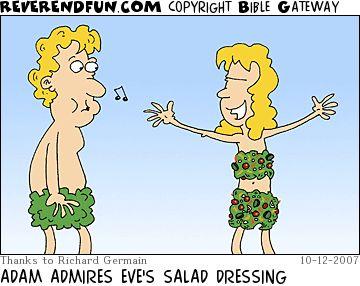 "Eve's Salad Dressing...    - ""Reverend Fun"";  10/12/07"