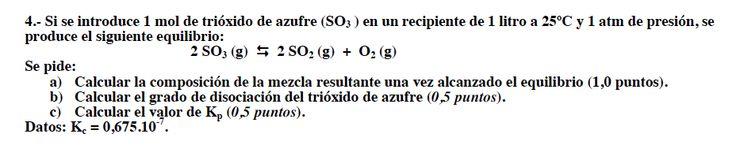 Ejercicio 4,P2, SETIEMBRE 2007-2008. Examen PAU de Química de Canarias. Tema: equilibrio.