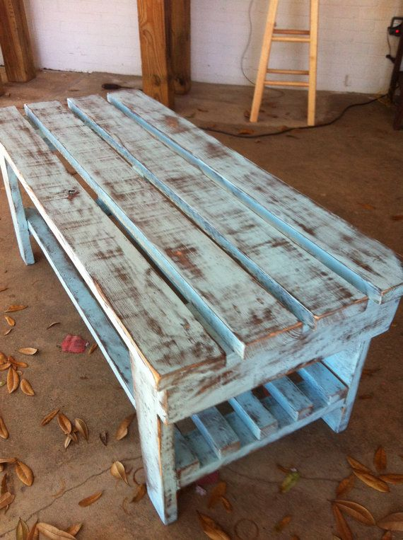 distressed cypress benchcoffee table i want to make something like this for the