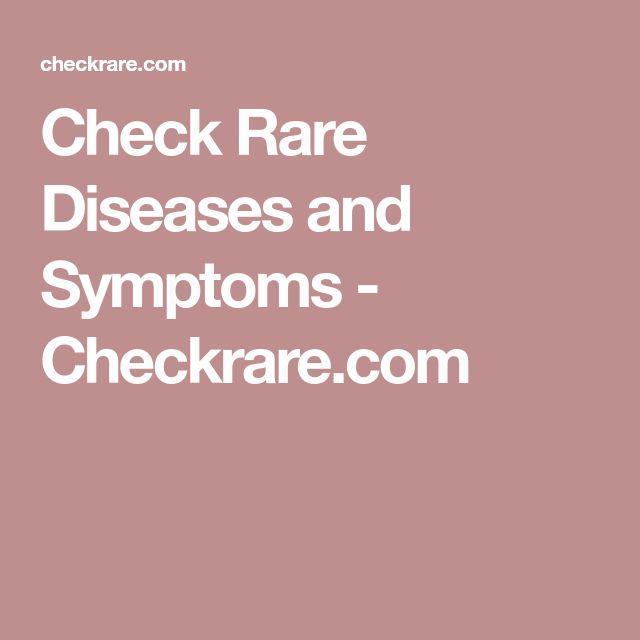 Check Rare Diseases and Symptoms - Checkrare.com