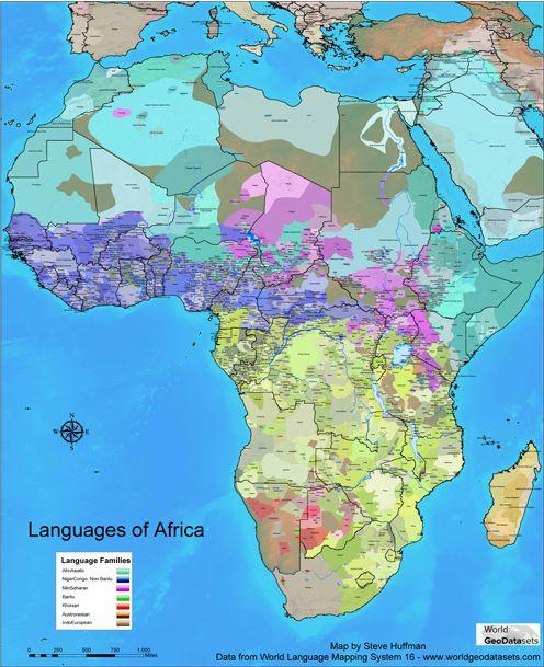The Languages of Africa - amazing diversity