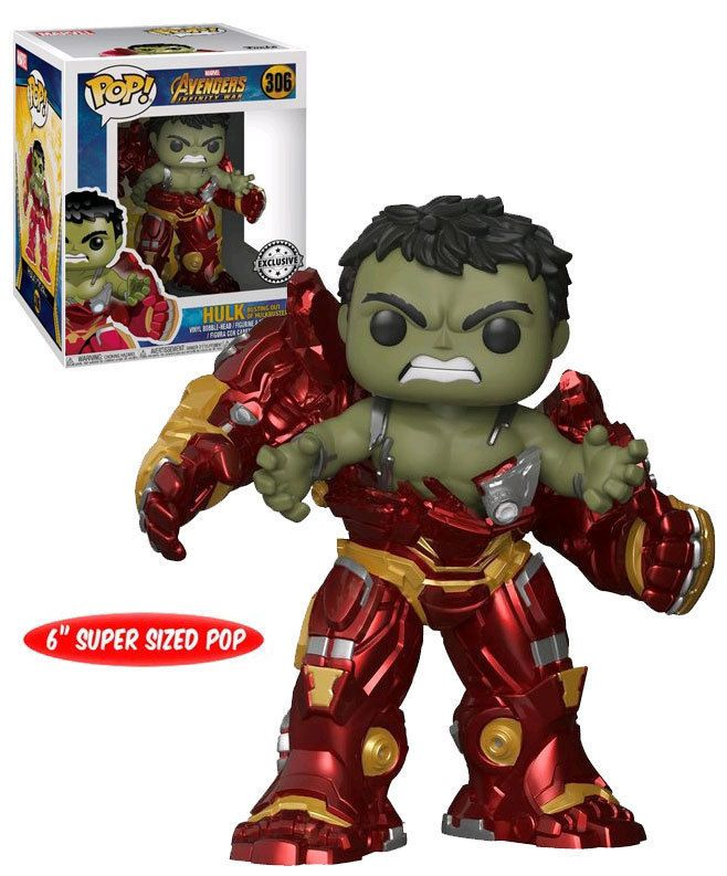 Funko Pop Marvel Avengers Infinity War 306 6 Super Sized Hulk Busting Out Of Hulkbuster New Mint Co Funko Pop Anime Funko Pop Avengers Funko Pop Dolls
