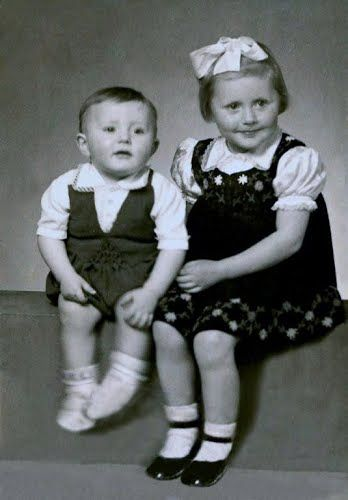 My mother and my uncle ca. 1952.
