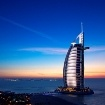 Burj Al Arab - despite the colour scheme, it's probably one of the best hotels in the world.