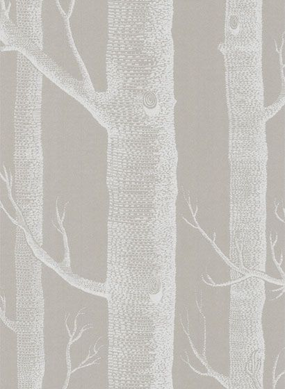 """Cole & Son """"Woods"""" wallpaper in taupe"""