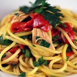 Pasta with Saffron Oil