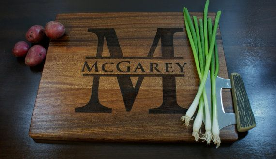 """Personalized Cutting Board, Custom Engraved 12"""" x 15"""" - Personalized Wedding Gift, Anniversary Gift on Etsy, $44.00"""