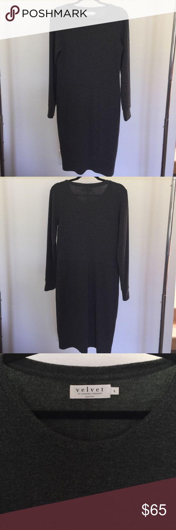 Velvet by Graham & Spencer long sleeve dress Velvet by Graham & Spencer long sleeve dress. 49% polyester 48% viscose 5% elastane. Size L Velvet by Graham & Spencer Dresses Long Sleeve