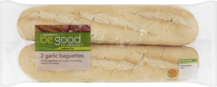 Sainsbury's Be Good to Yourself Garlic Baguettes (2 per pack - 420g)
