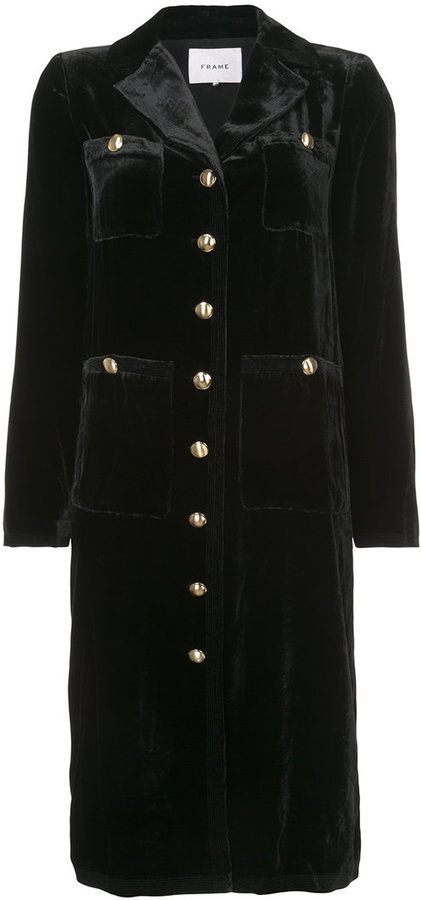 Frame large buttoned single breasted coat