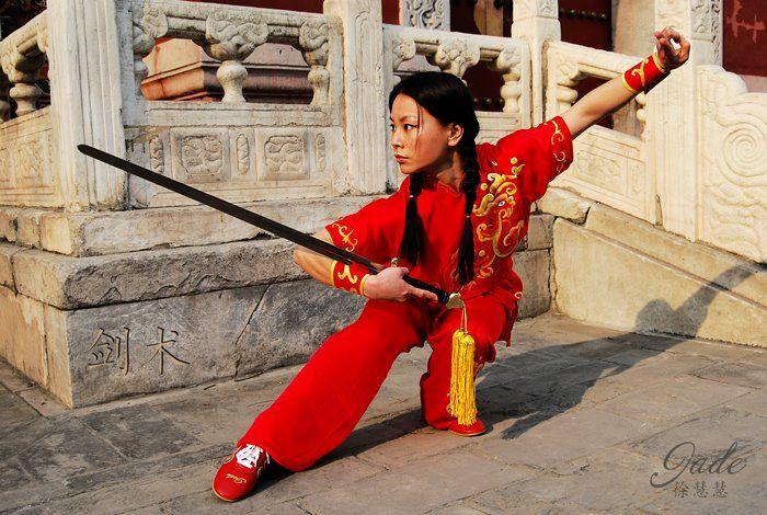 Xu Huihui (徐慧慧, known professionally as Jade Xu) (born 9 February 1986) is a Chinese martial arts actress & multiple World Wushu Champion.