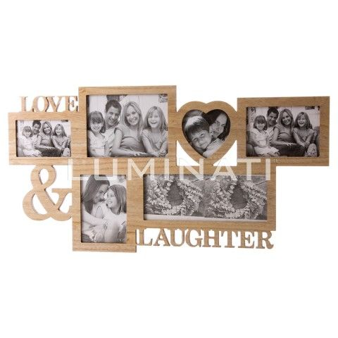 Love & Laughter multi-aperture photo frame. Designed and manufactured in  the UK