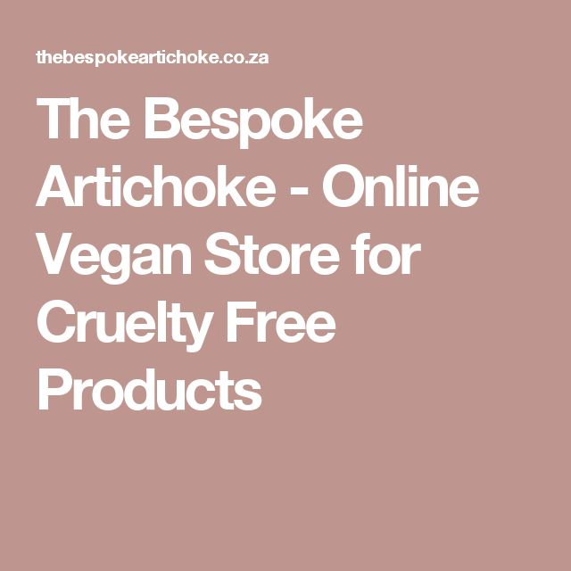The Bespoke Artichoke - Online Vegan Store for Cruelty Free Products