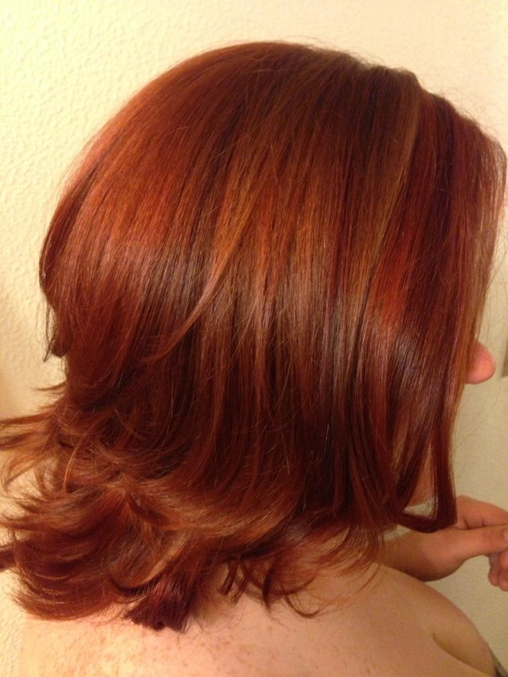 beautiful medium copper red hair with bright copper and