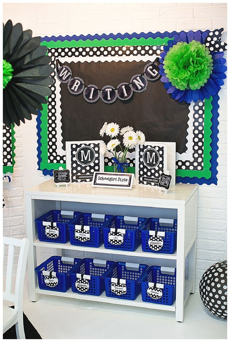 Chalkboard and Polka Dots by Schoolgirl Style...Love this color combo!