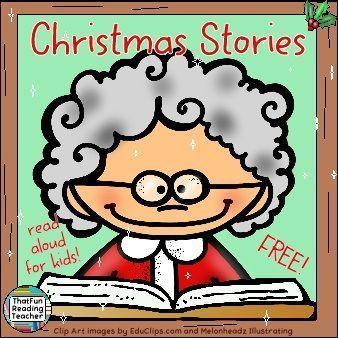 #FREE #ChristmasStories read aloud! Playlist on ThatFunReadingTeacher.com! Merry Christmas!