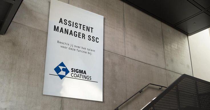 Ben jij de nieuwe Assistent Manager SSC bij Sigma Coatings?