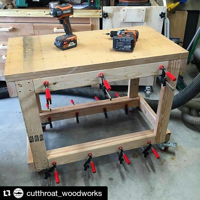For #featurefriday you guys need to go give @cutthroat_woodworks a follow! Scott has taken on the challenge of making a lathe stand just like mine all based on pictures!! How awesome is that?! I know his is going to turn out great so be sure to go over and give him a follow so you can watch his lathe stand take shape!  #Repost #wood #woodworking #woodworker #woodturning #workshop #garage #diy #featurefridays #diy #love #loveit #gotwood #gotwoodworkshop by gotwoodwrkshop