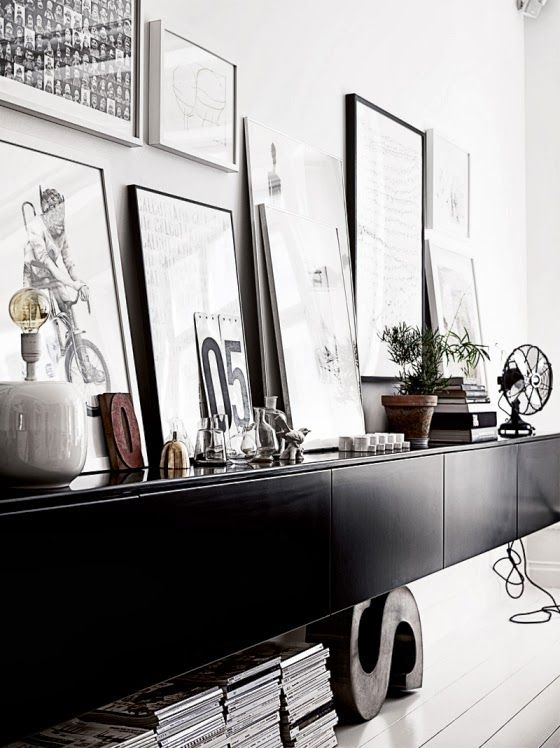 my scandinavian home: A monochrome apartment with a touch of mid-century