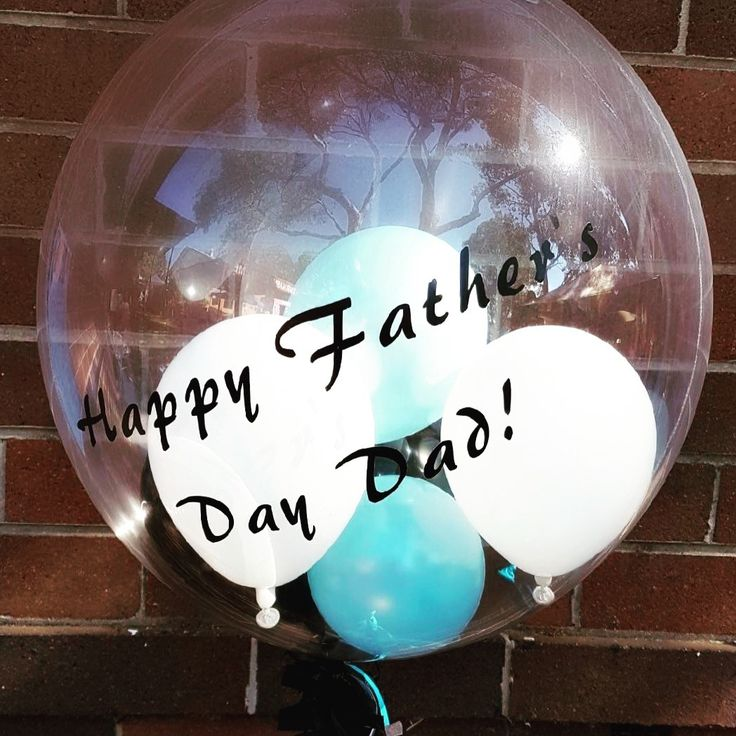 Fathers Day Balloon in Sharkies colours