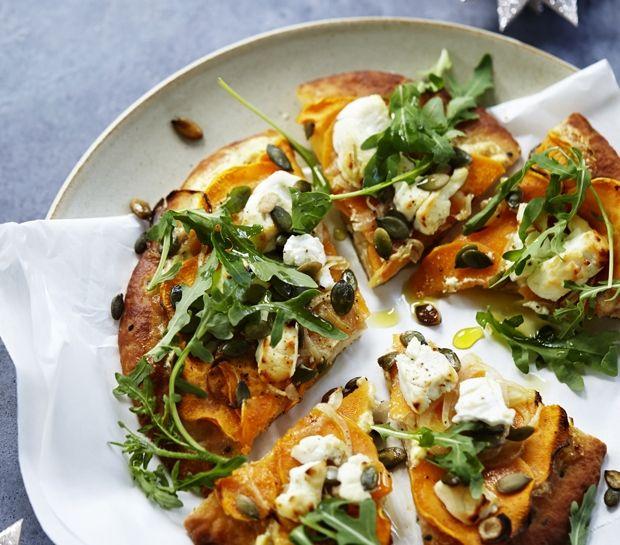 Vegetarpizza med rucola: nem italiensk mad