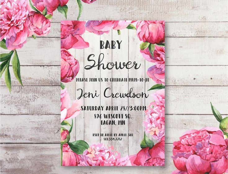 Pinterestu0027teki 25u0027den fazla en iyi Free baby shower invitations - baby shower invitations samples free