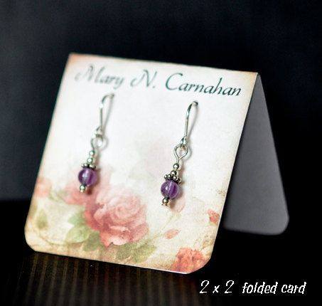 Custom Earring Card Jewelry Display by TheHourglassStudio on Etsy, $13.20