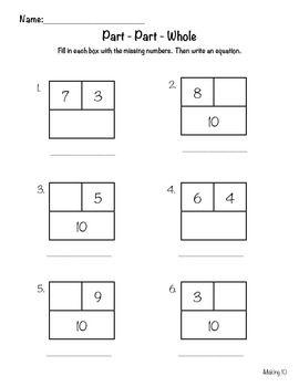90 Best images about Math- Part Part Whole on Pinterest   Fact ...
