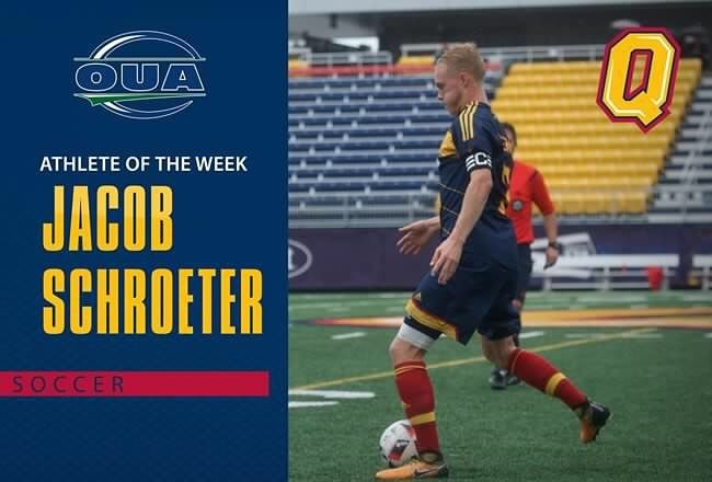 Congrats to  @jacob_schroeter who was named the @ouasport male Athlete of the Week! gogaelsgo.com for full details #LeadTheWay