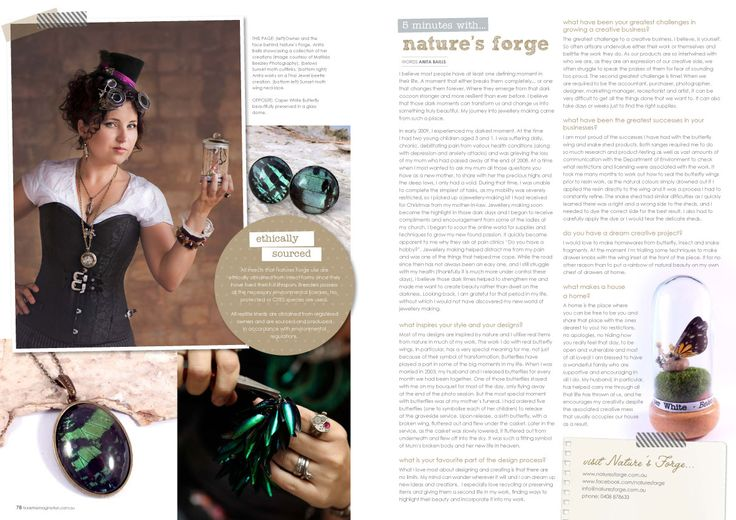 Here is a really inspirational interview with Anita from Dust member shop NaturesForgeAU in the latest issue of Tickle The Imagination