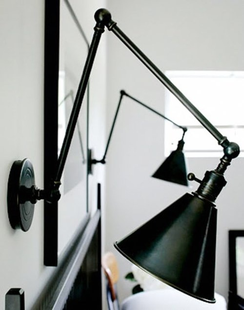 Habitually Chic®: Simplicity | Boston Functional Library Two Arm Wall Light: SL2923