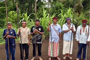 Achuar Men With Spears photo on the site of the Paachamam Alliance. We need to learn about/from them