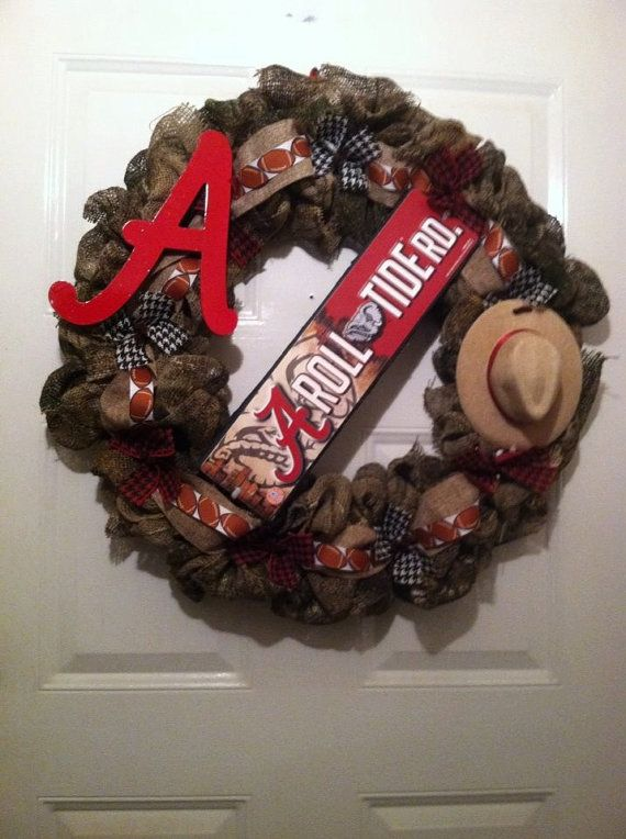 Camoflauge Alabama Burlap Wreath Camo Bama by ElsiesCreativeDesign, $50.00