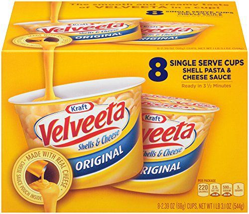 Velveeta Shells and Cheese Original Single Serve Cups, 2.39 Ounce, 8 Count - http://mygourmetgifts.com/velveeta-shells-and-cheese-original-single-serve-cups-2-39-ounce-8-count/