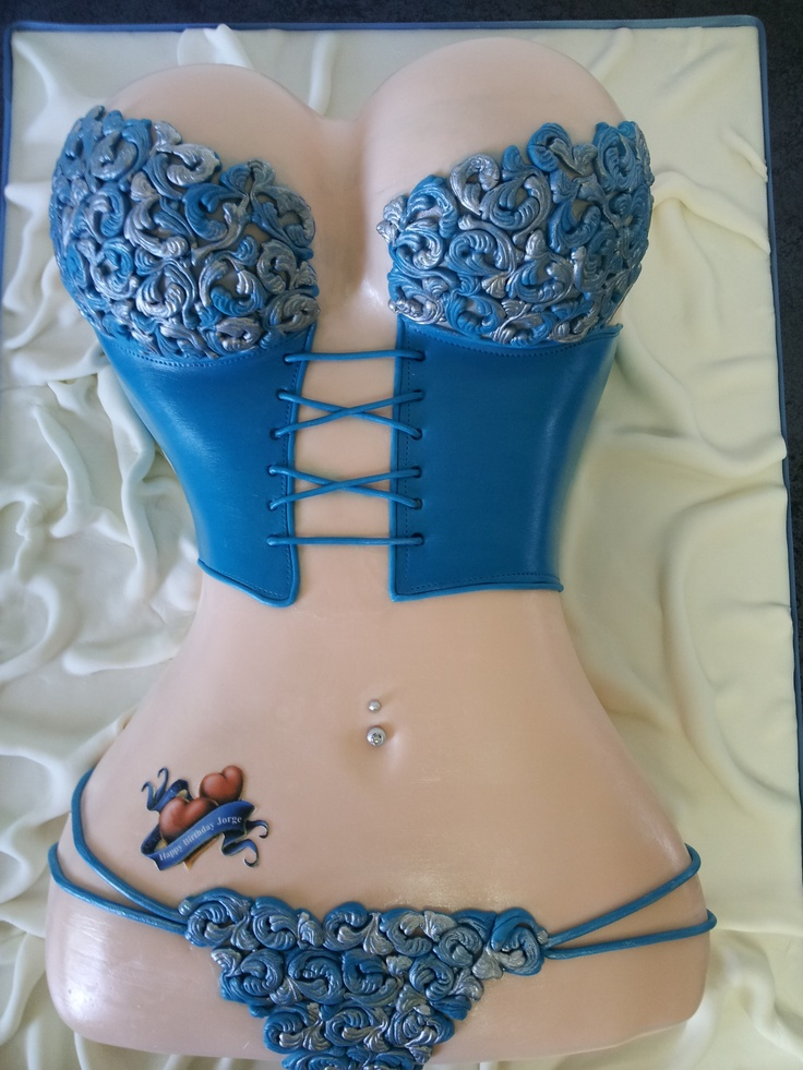 Birthday Cakes - Lingerie cake design!  Vanilla cake with cream cheese and guava filling!!!!