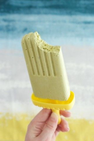 Matcha mousse pops| Matcha is green tea, in powder form; it's delicious to drink and even better in an ice mold. First fold it into a mousse made of yogurt and whipping cream, then freeze to make these airy, antioxidant-rich ice pops.  Read more: http://www.rd.com/slideshows/ice-pops-unbelievable-flavor/#ixzz2WjbUoFcj
