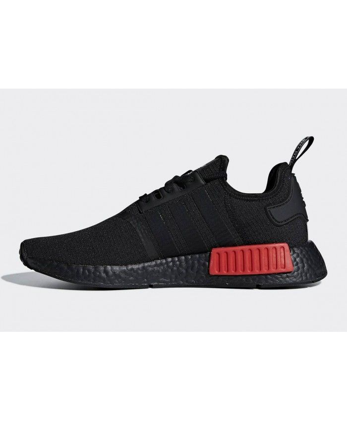 fd8c677f3 Adidas NMD R1 Black Red Shoes Clearance