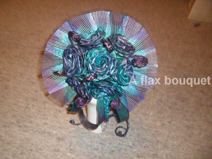 Flax flower Brides bouquet.