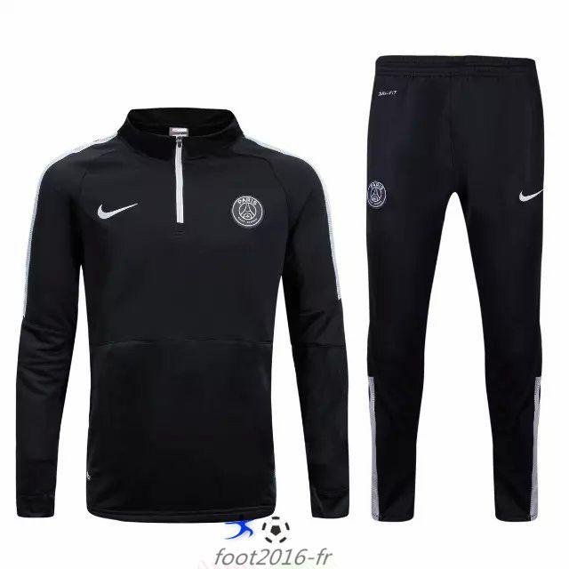 Soldes Nouveau survetement equipe de foot PSG Black 2015 2016 Thailande shop