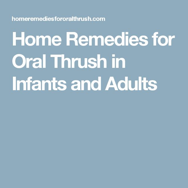 how to get rid of thrush on tongue naturally