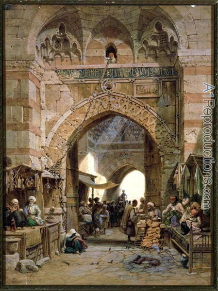 bazaar-scene-1875-by-carl-friedrich-h-werner.jpg (449×600)