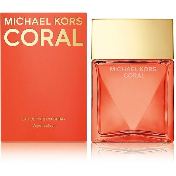 Michael Kors MK Coral Eau de Parfum-3.4 oz. ($110) ❤ liked on Polyvore featuring beauty products, fragrance, perfume, beauty, cosmetics, no color, michael kors fragrance, michael kors, eau de perfume and michael kors perfume