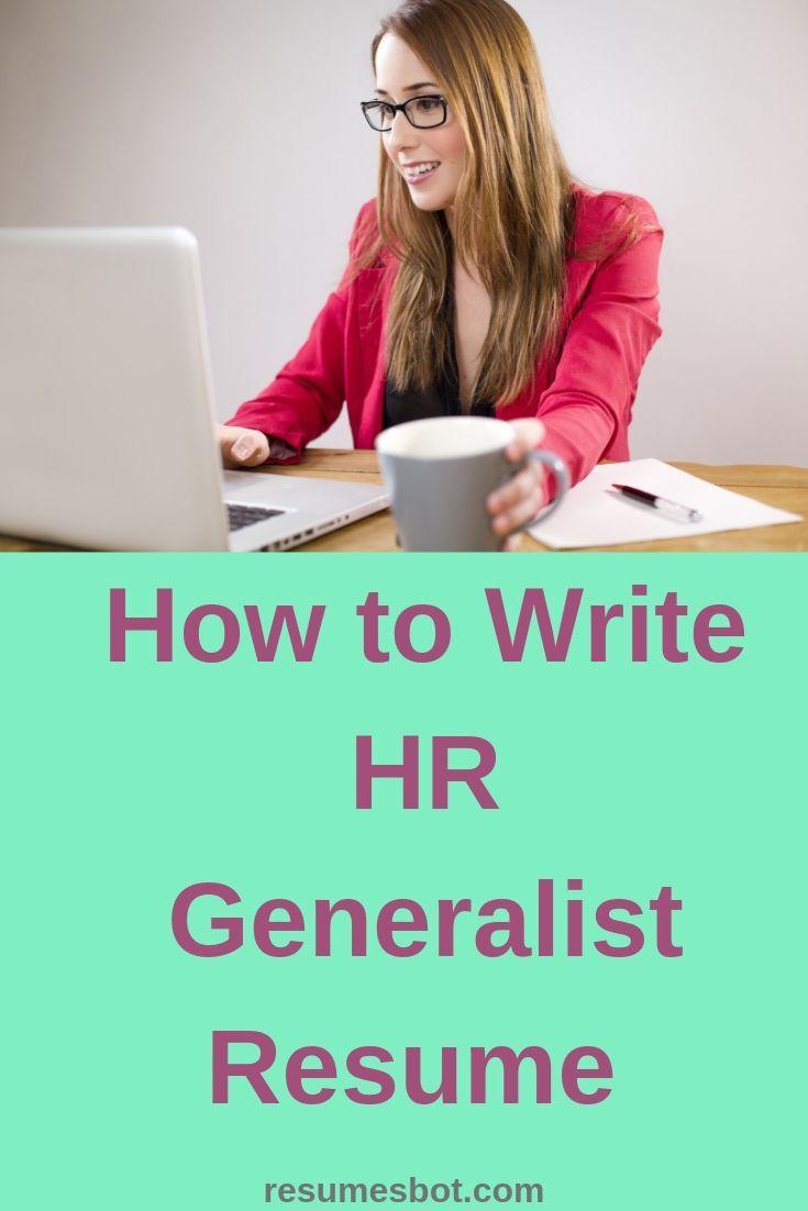 Hr generalist resume samples templates pdfword 2019