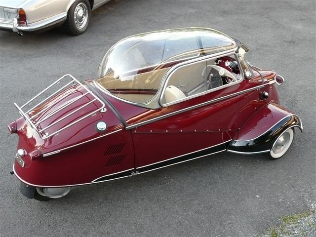 Messerschmitt KR 175 aka- the oh em geeeee that's so cute!!!!! totally need this for the back of the bus.