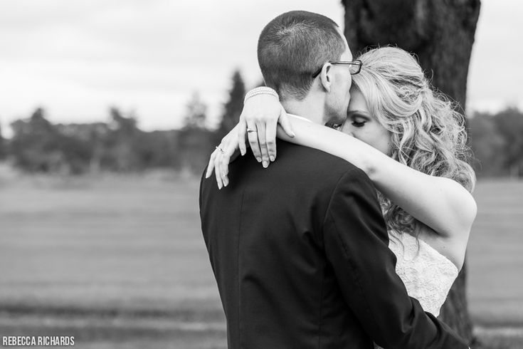 Bride and Groom Portrait Pose at Penobscot Valley Country Club Wedding in Orono Maine by Rebecca Richards Photography