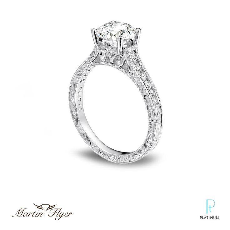 Martin Flyer FlyerFit Channel Platinum And Diamond Engagement Ring