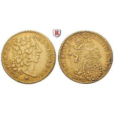 Bayern, Herzogtum, Karl Albrecht, 1/2 Karolin 1731, ss: Karl Albrecht 1726-1745. 1/2 Karolin 1731 München. Friedb. 230; GOLD, sehr… #coins