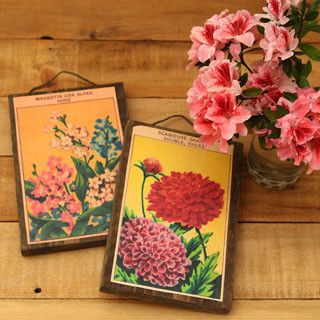Faire l'art mural de cru imprimables paquets de semences françaises libres et bois de rebut!  |  Un morceau de blog arc