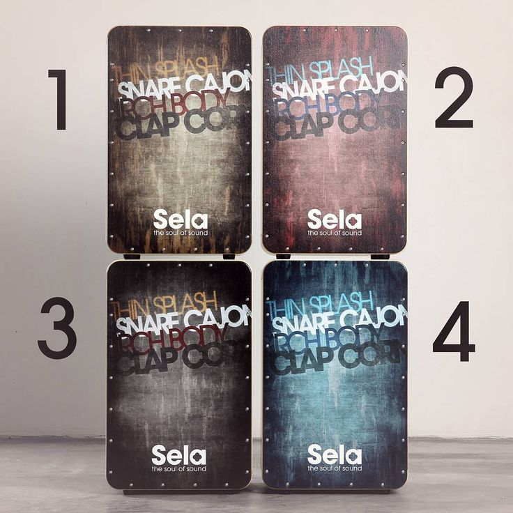 These are the new Sela CaSela Vintage models - available in 4 different colours! Which is your favourite? If you want some more information about our quality cajons visit http://www.sela-cajon.com.