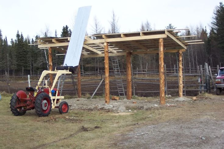 Lean to pole barn plans yesterday 39 s tractors petricnca for How to build a tractor shed